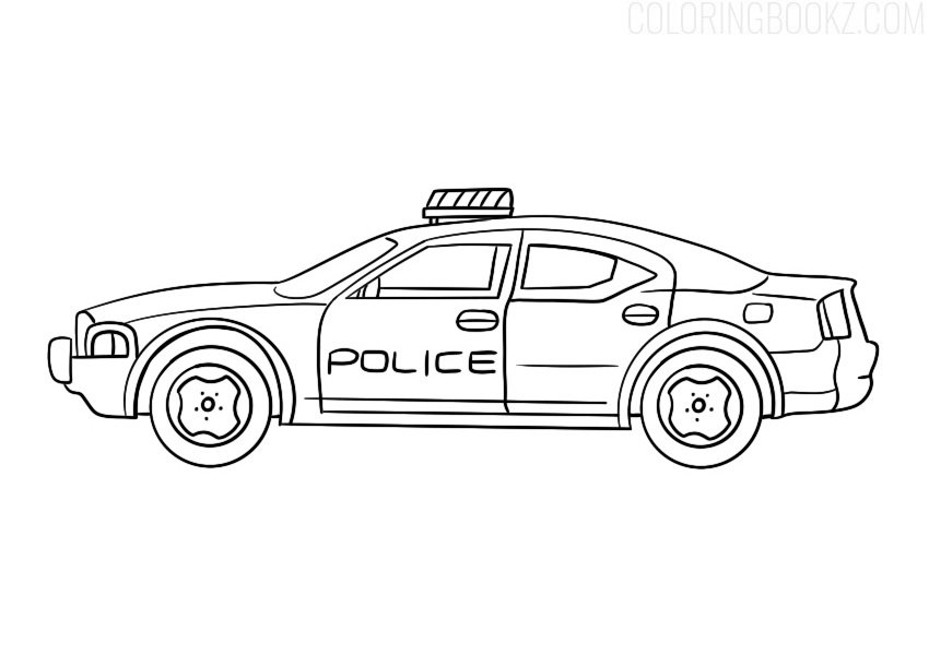 police car coloring books royal lagoon color layered paper art landscape tempera or coloring pages Coloring Page Police
