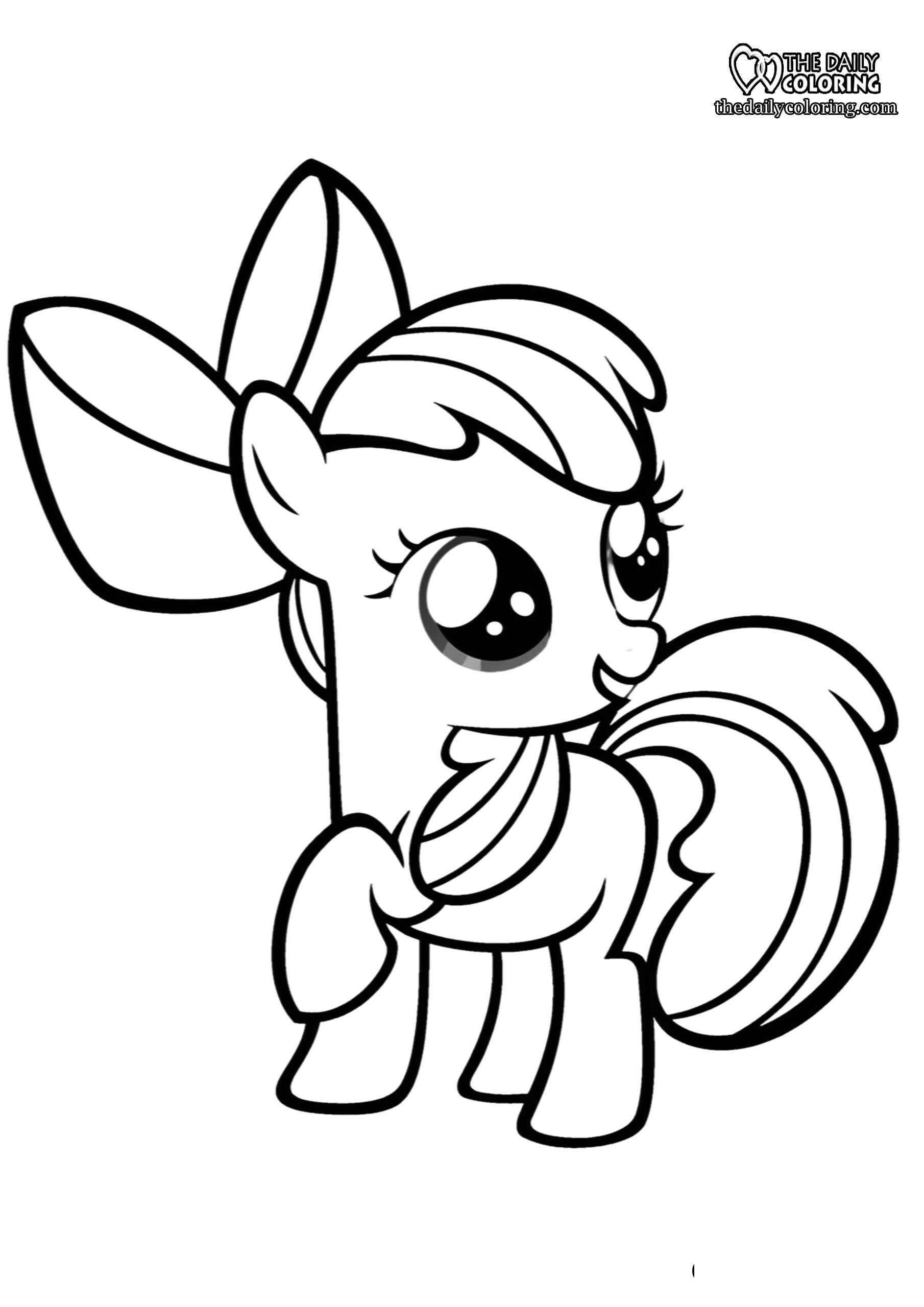 pony coloring the daily ponies sheet seahorse sculpture diy get dry erase marker off wall coloring pages Ponies Coloring Page