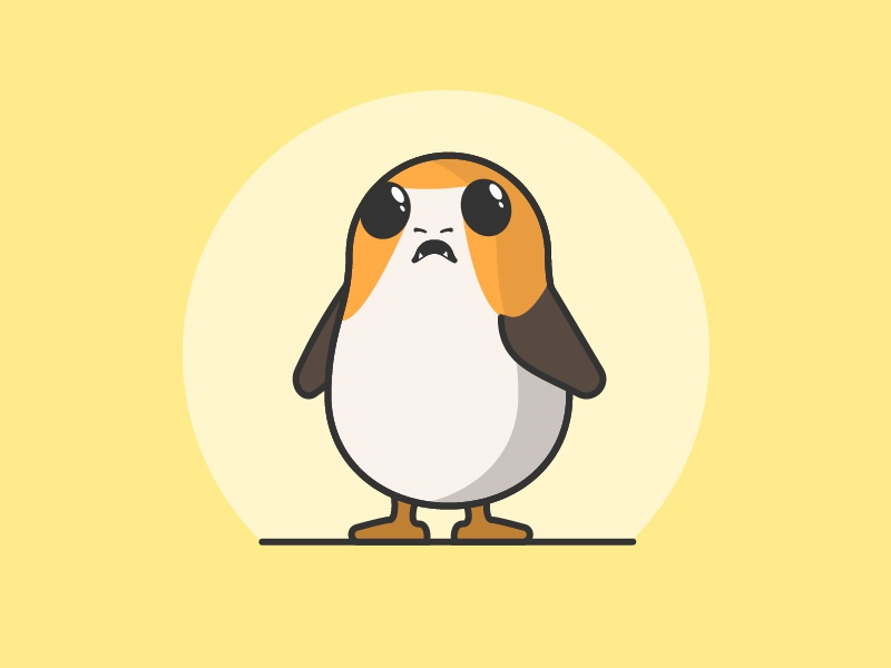 porg by sheldon on dribbble coloring artboard write in cursive preschool colored template coloring pages Porg Coloring Page