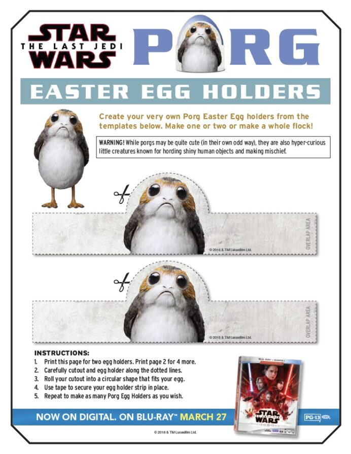 porg easter egg holders star wars the last jedi coloring diy craft kit picasso portrait coloring pages Porg Coloring Page