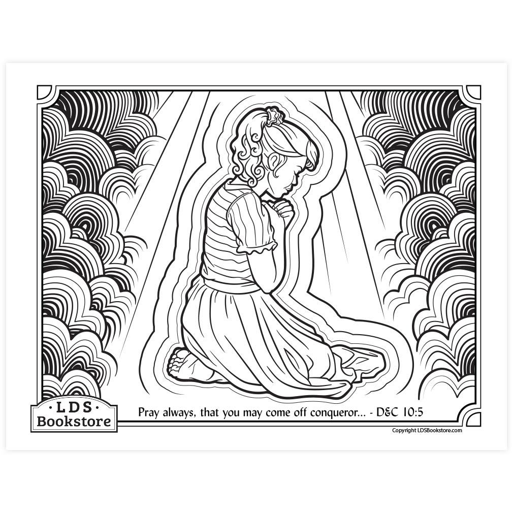 pray always coloring printable doctrine and covenants lds prayer ldpd pbl color doctcov10 coloring pages Lds Prayer Coloring Page