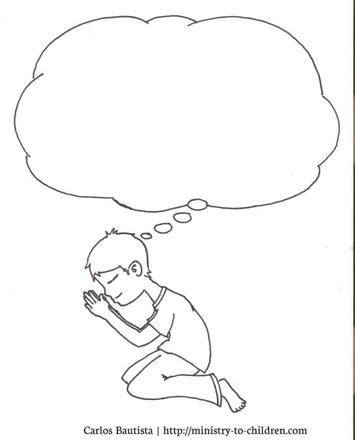 prayer coloring for kids free printable pictures praying boy people sheets color wonder coloring pages Prayer Coloring Page