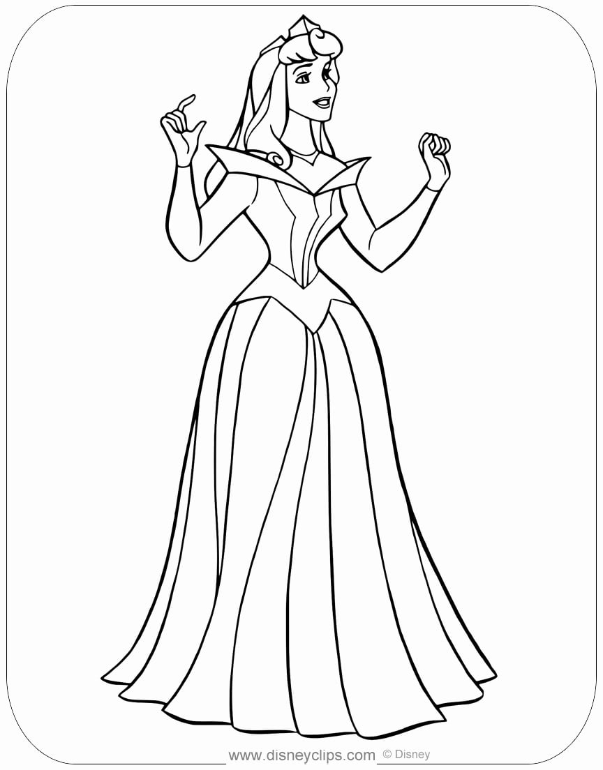 princess coloring best of sleeping beauty elsa printable directions to harrisburg pa coloring pages Aurora Coloring Page