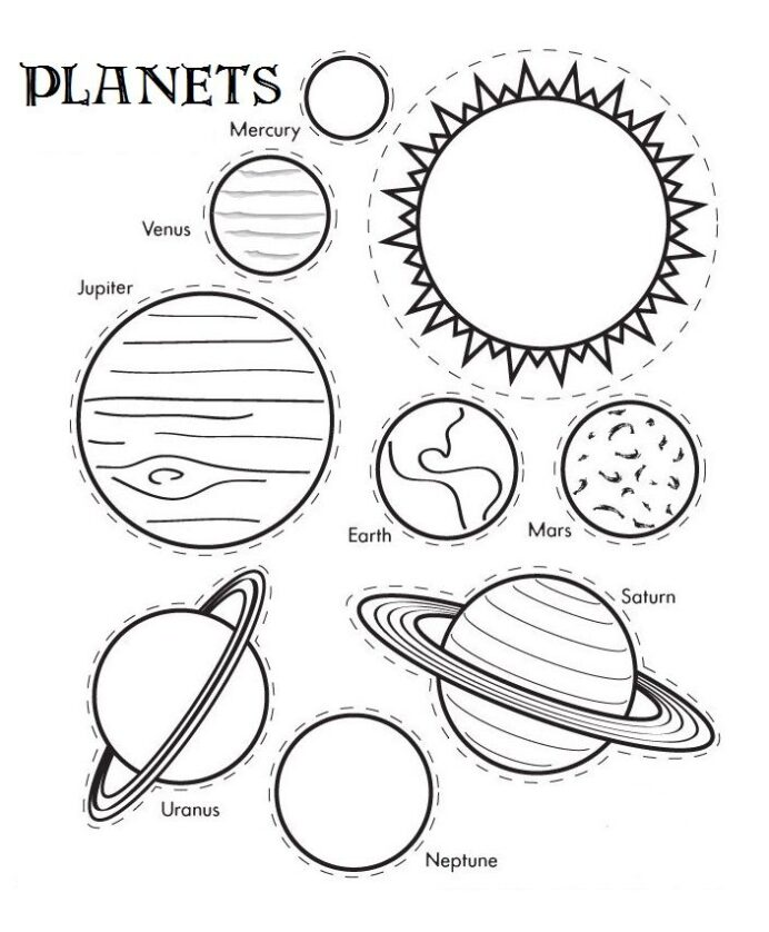 print two copies and attach strings solar system coloring crafts planet light blue pastel coloring pages Planet Coloring Page