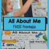 printable all about poster for preschool theme inspirations free posters crayola marker coloring pages Free Printable All About Me Posters