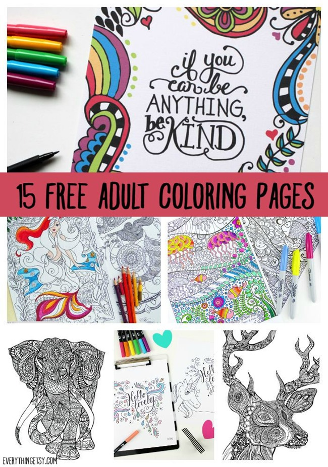 printable coloring for adults free designs everythingetsy adult printables on smelly coloring pages Free Adult Coloring Page