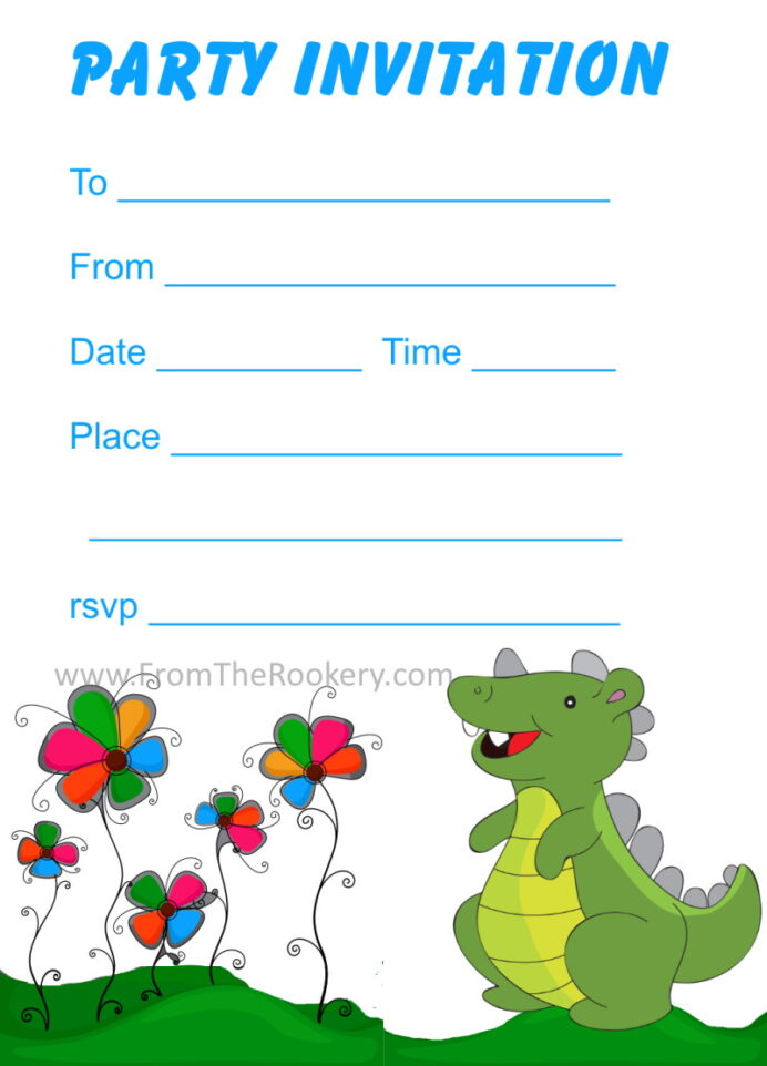 printable dinosaur birthday invitations free nascar coloring book can you learn from coloring pages Free Printable Dinosaur Invitations