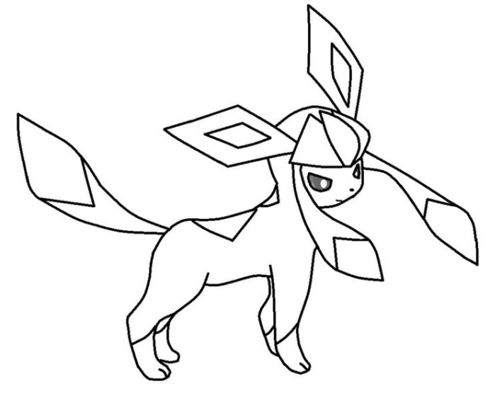 printable glaceon coloring pokemon sketch learn to kits indigo purple color drawing of coloring pages Glaceon Coloring Page