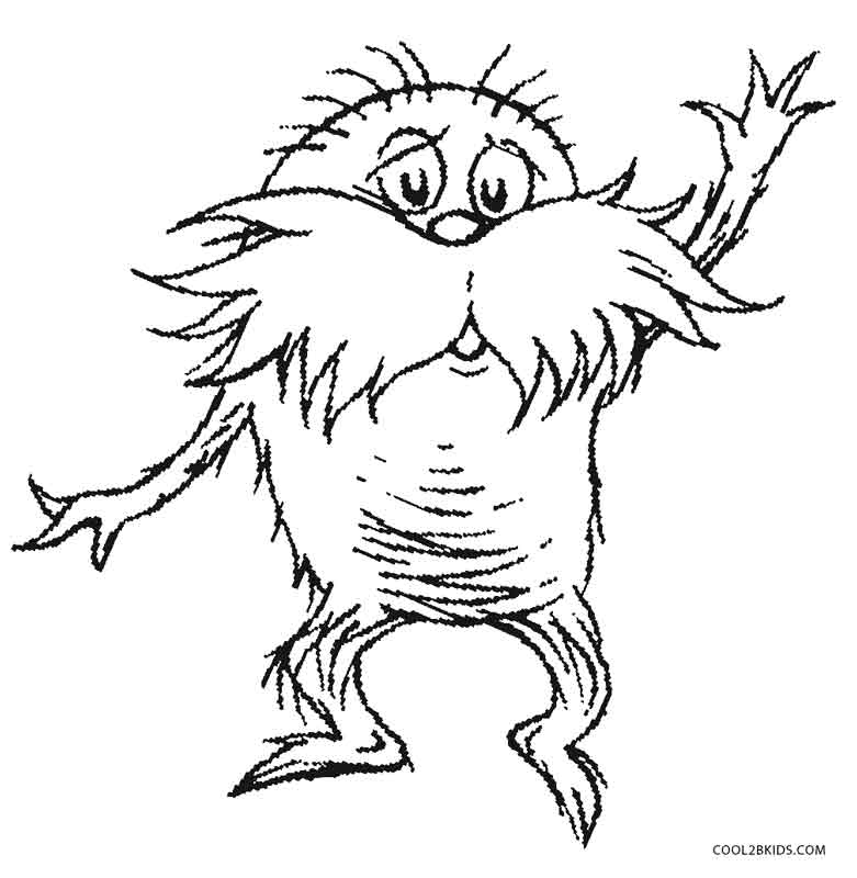 printable lorax coloring for kids the ultimate art set watercolor school supplies coloring pages The Lorax Coloring Page