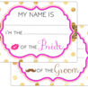 printable name tags event wedding engagement party rehearsal bridal shower bachelorette coloring pages Bridal Shower Tags Free Printable