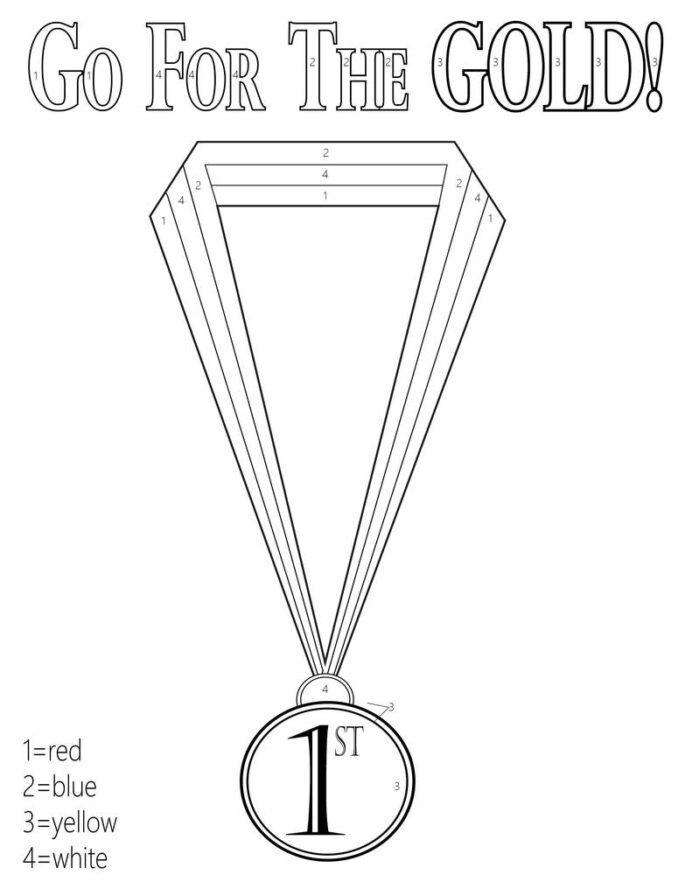 printable olympic coloring supplyme olympics go for the gold 1024x1024 football sheets coloring pages Olympics Coloring Page