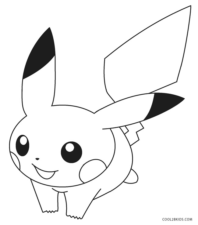 printable pikachu coloring for kids baby animal printouts multicolored pencil crayons coloring pages Coloring Page Pikachu