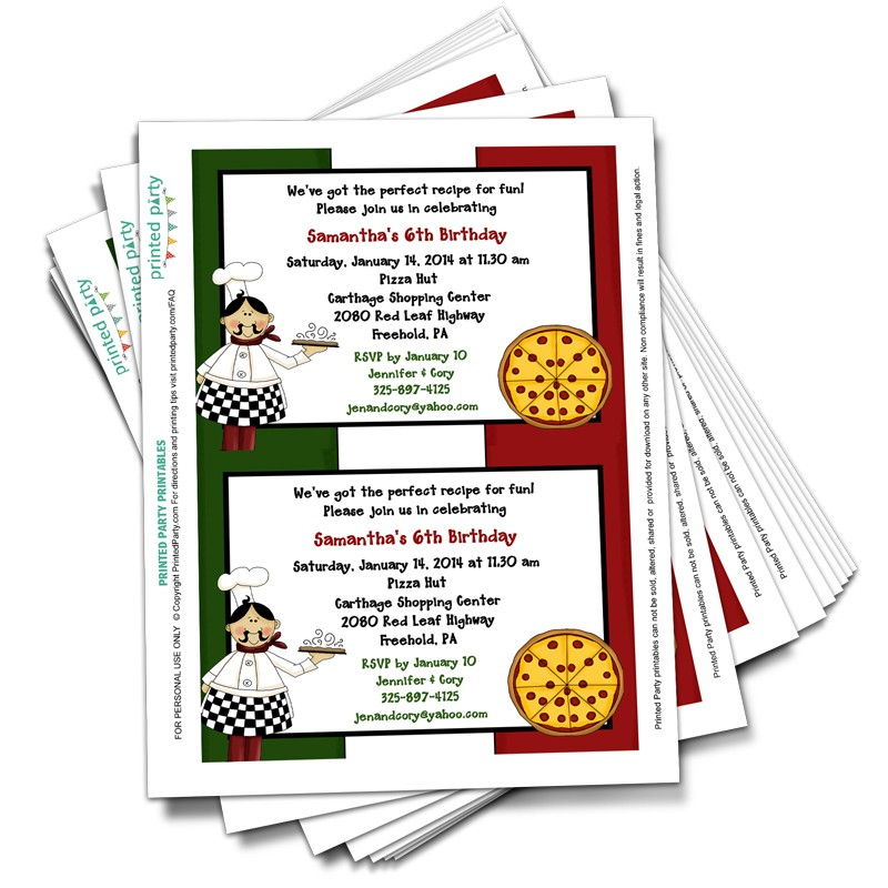 printable pizza party invitations template printed invites free pzza 57tp coloring sheet coloring pages Pizza Party Invites Free Printable