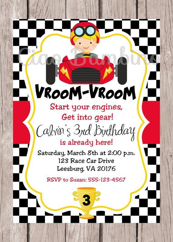 printable race car birthday party invitation personalized racing choose hai cars coloring pages Race Car Invitations Printable Free