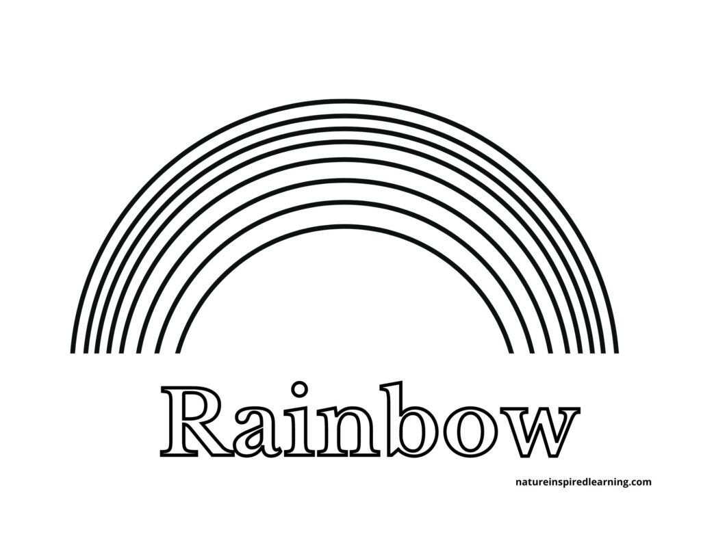 printable rainbow coloring for kids nature inspired learning basic with text 1024x791 diy coloring pages Rainbow Coloring Page Printable