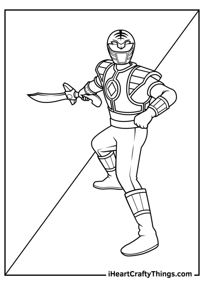 printable rangers coloring updated ranger classpack crayola markers shark pictures to coloring pages Green Power Ranger Coloring Page