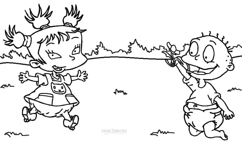 printable rugrats coloring for kids count of ornaments hop scotch game secondary colors coloring pages Rugrats Coloring Page