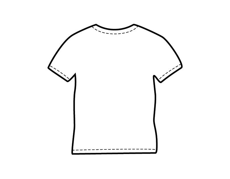 printable shirt coloring from freshcoloring template blank shirts colorful tshirt car coloring pages Tshirt Coloring Page