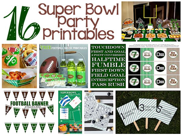 printables for your super bowl party about family crafts free printable football coloring pages Free Printable Football Decorations