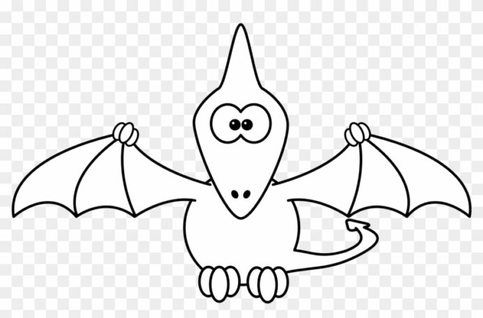 pterodactyl black line studiofibonacci 1979px coloring hd 1979x1226 pngfind pteradactyl coloring pages Pteradactyl Coloring Page