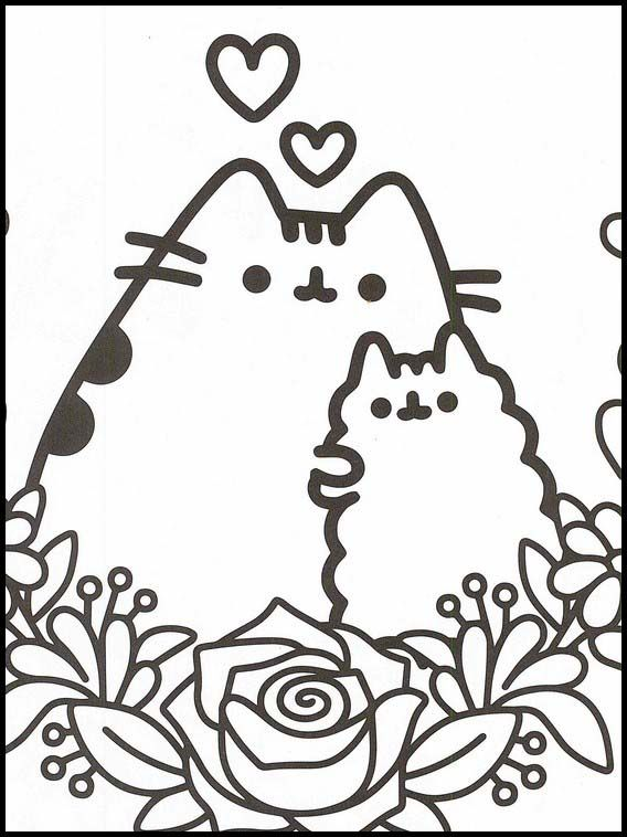 pusheen printable coloring book unicorn cute cat crayola recycling markers tiger coloring pages Pusheen Cat Coloring Page