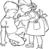 put some bandage to cover wound helping others coloring sky lady bug dot sheets unicorns coloring pages Helping Others Coloring Page