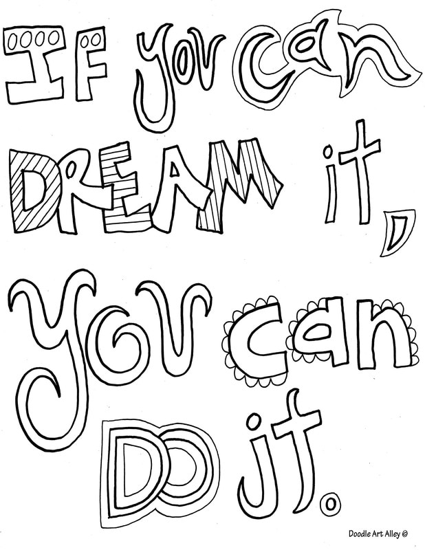 quote coloring doodle art alley inspirational ifyoucandream orig crayola experience coloring pages Inspirational Coloring Page
