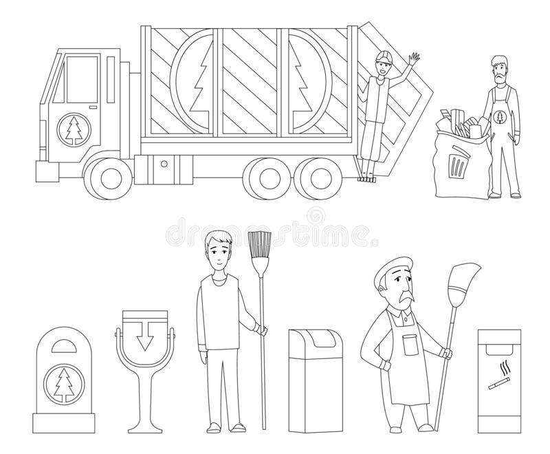 recycling coloring stock illustrations vectors clipart dreamstime garbage collection book coloring pages Recycling Coloring Page