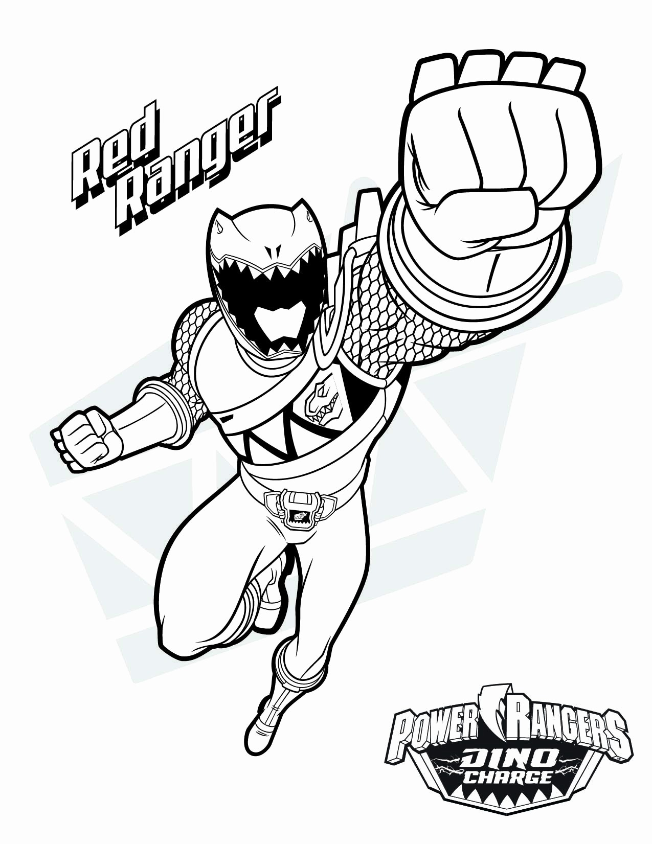 red ranger coloring free printable for kids books fresh mighty morphin rangers dxj1t coloring pages Green Power Ranger Coloring Page