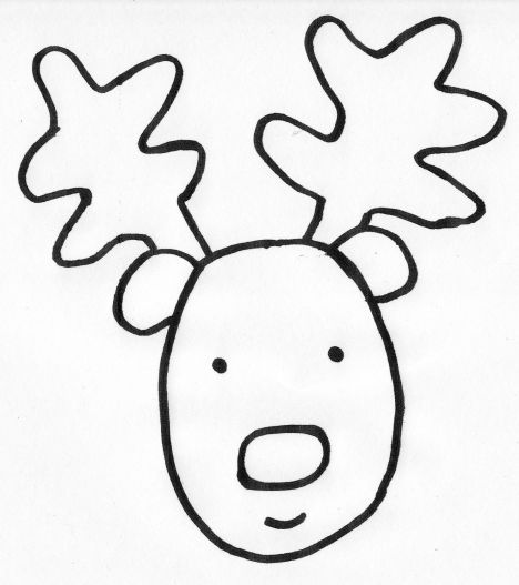 reindeer coloring part upholstery marking chalk color snowman back in free printable coloring pages Reindeer Face Coloring Page