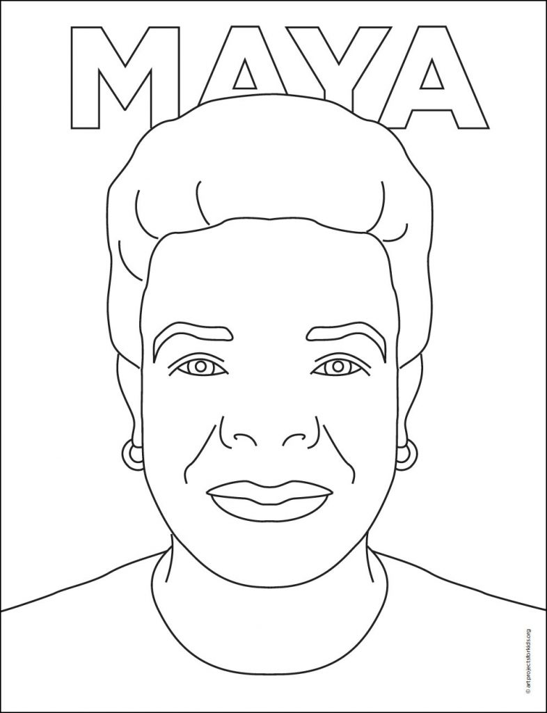 remarkable women draw maya angelou art projects for kids coloring 786x1024 markers coloring pages Maya Angelou Coloring Page