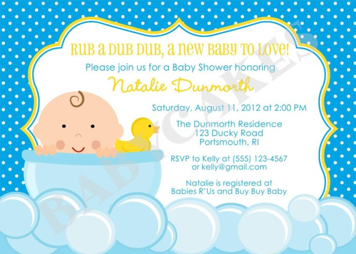 rubber duck baby shower invitation templates ducky invitations showers free printable coloring pages Free Printable Rubber Ducky Baby Shower Invitations