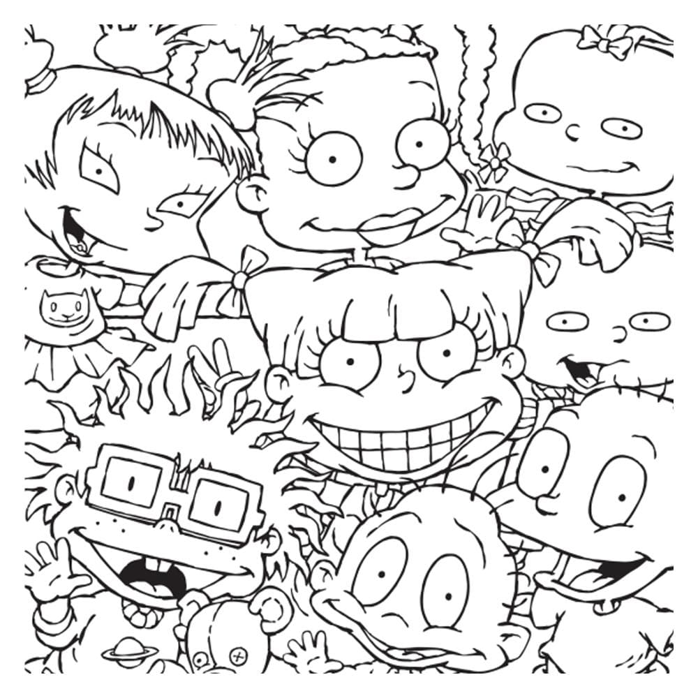 rugrats coloring print and color wonder easy easter craft ideas candy canes there was ano coloring pages Rugrats Coloring Page