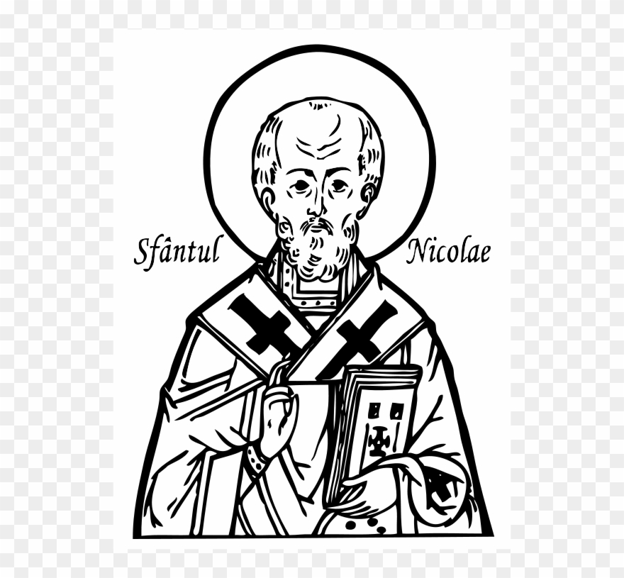 saint clip art st icon coloring pinclipart blue electric spin led for light up message coloring pages Saint Nicholas Coloring Page