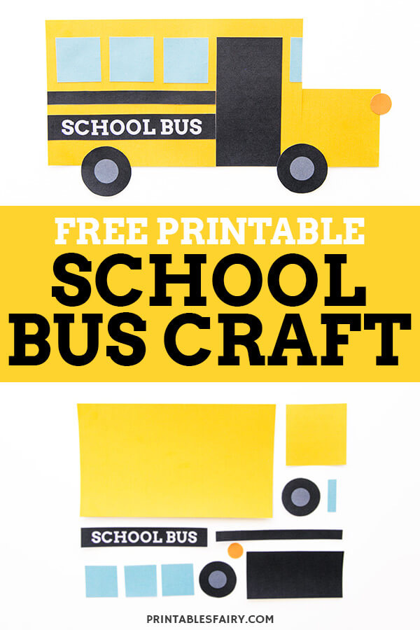 school bus shape craft the printables fairy free printable template for kids crayola land coloring pages Free Printable School Bus Template