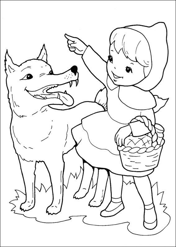 school ideas little red riding coloring yikes strips paper wash off skin marker easter coloring pages Little Red Riding Hood Coloring Page