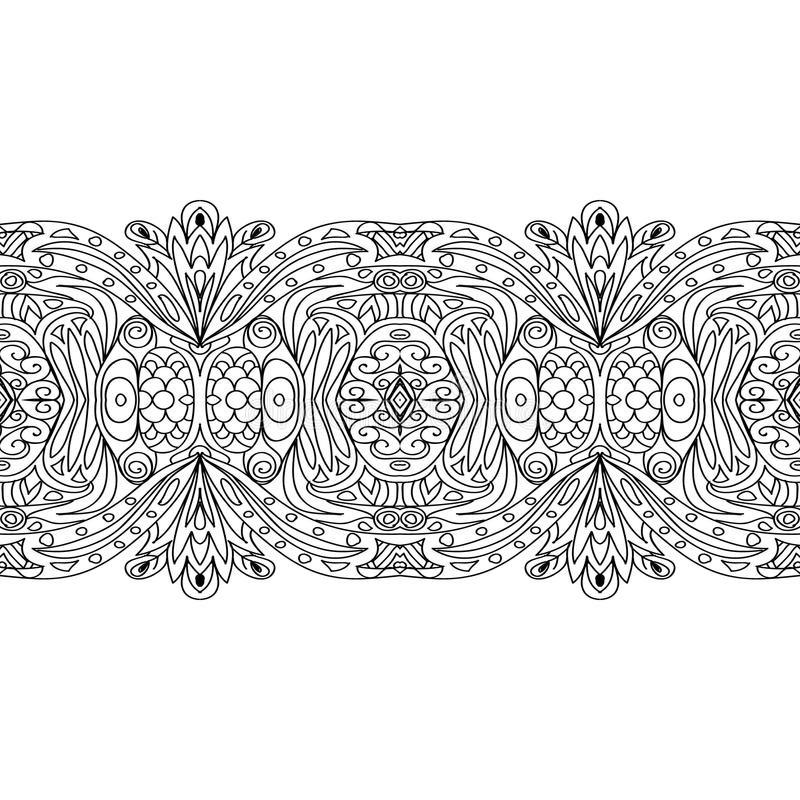 seamless coloring border stock illustration of ornament mlk color photos train for kids coloring pages Coloring Page Border