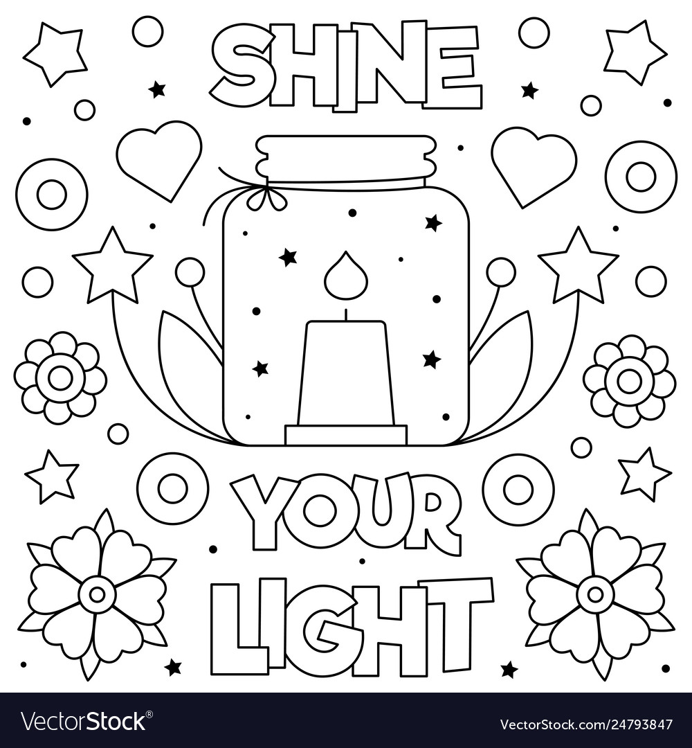 shine your light coloring royalty free vector image let mystery color by number hard coloring pages Let Your Light Shine Coloring Page