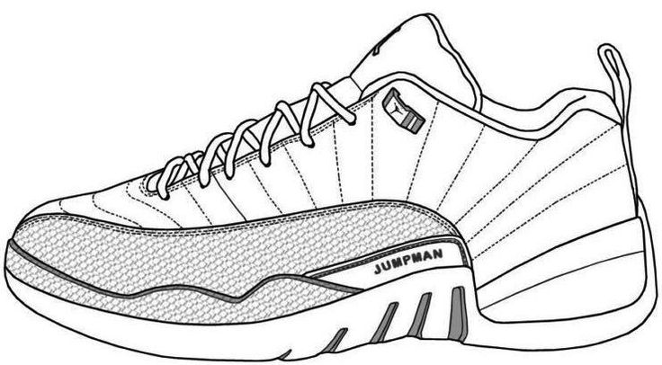 shoe coloring idea whitesbelfast air shoes to learn drawing outlines shopkins truck coloring pages Jordan Shoe Coloring Page