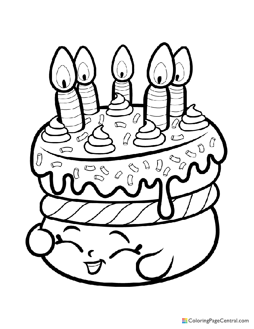 shopkin cake wishes coloring central shopkins birthday free animal pictures to print coloring pages Shopkins Birthday Cake Coloring Page