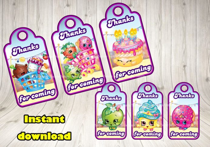 shopkins favor tags printable decorationsleon free food labels il fullxfull mzbo wax coloring pages Free Printable Shopkins Food Labels