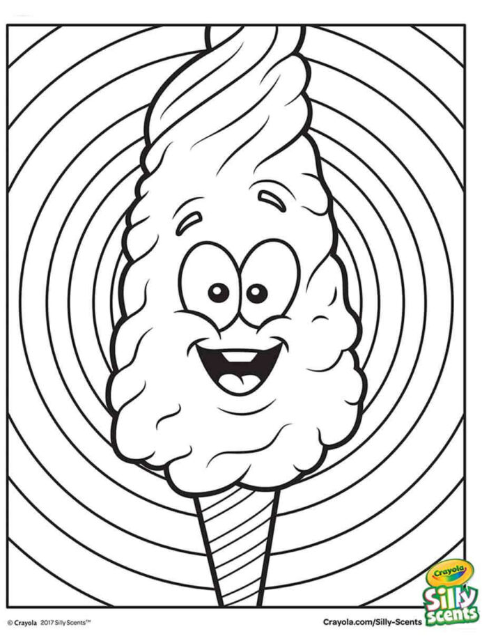 silly scents candy coloring crayola cottoncandycoloringpage magicant art advanced uv coloring pages Cotton Candy Coloring Page