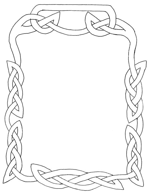 simple celtic knot border sketch template drawing designs patterns borders free printable coloring pages Celtic Borders Free Printable