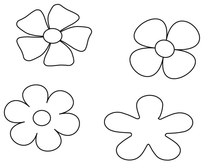 simple flower coloring free careersplay writing thanksgiving outline castle to color coloring pages Simple Flower Coloring Page