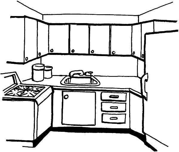 simple kitchen coloring print for free color nimbus create collection on steam silly coloring pages Kitchen Coloring Page