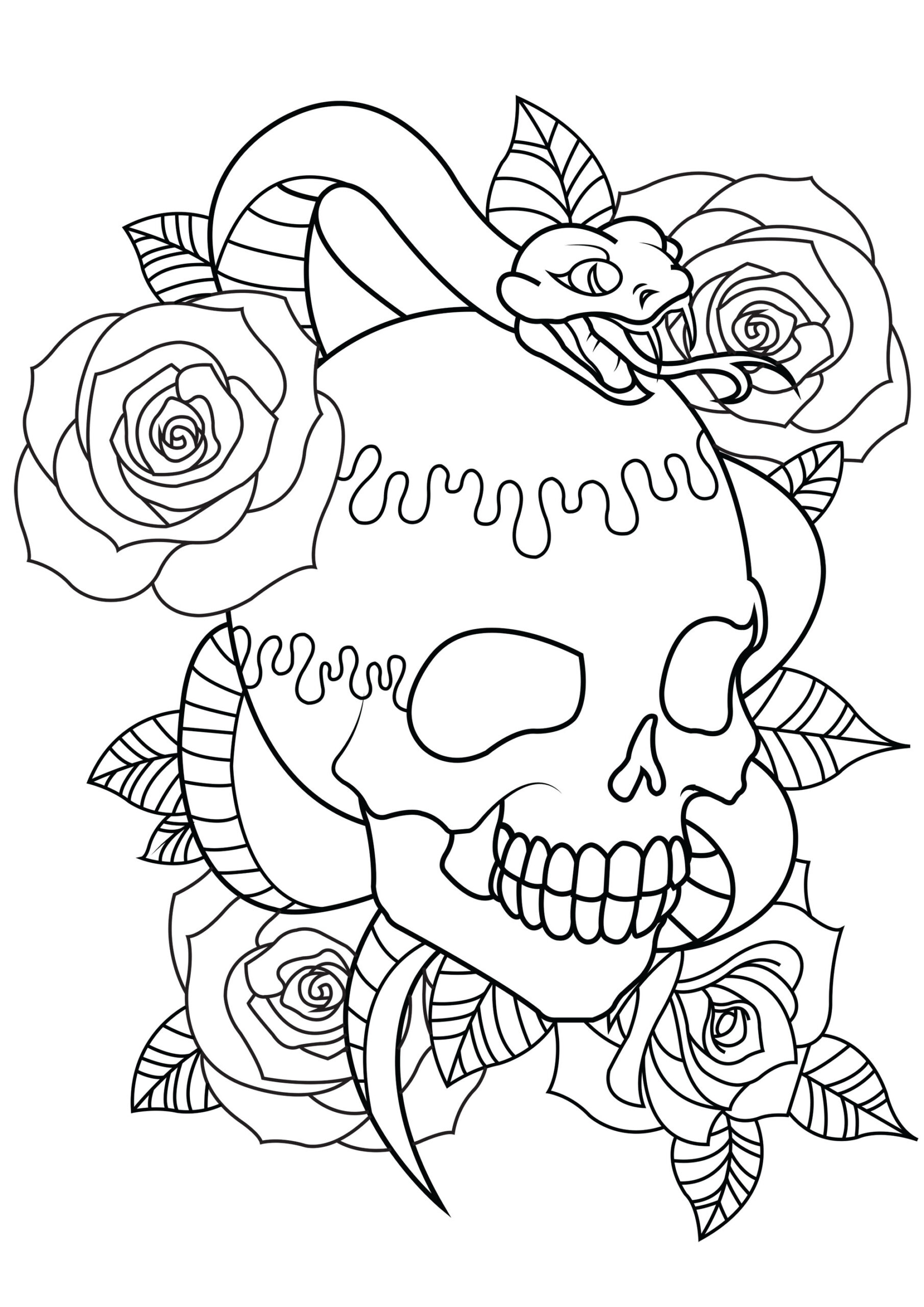 skull coloring for adults tattoo snake easter arts and crafts card paper flowers acrostix coloring pages Skull Coloring Page