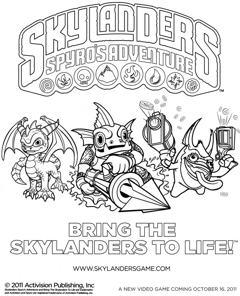skylanders cartoons printable coloring superchargers inchworm facts free tangram lesson coloring pages Skylanders Superchargers Coloring Page