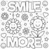 smile more coloring black and vector illustration royalty free vectors stock image craft coloring pages Smile Coloring Page