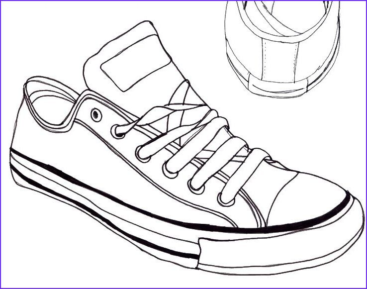 sneaker line art shoes drawing star coloring music pdf purple mountain sukkot sheets coloring pages Converse Coloring Page