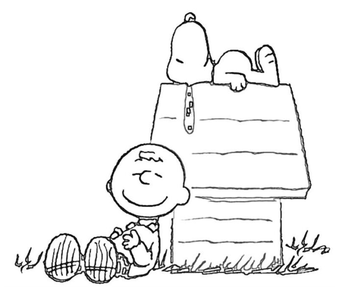 snoopy coloring charlie pictures smilecoloring christmas thanksgiving paint brush kids coloring pages Charlie Brown Coloring Page